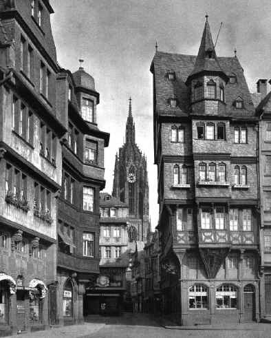 old market alter markt frankfurt am main historic picture historisches bild. Black Bedroom Furniture Sets. Home Design Ideas